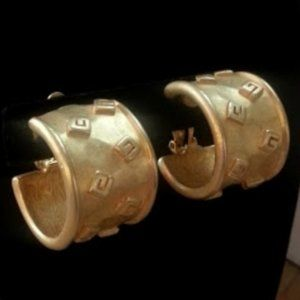 Vintage Givenchy goldtone G wide clip-on earrings